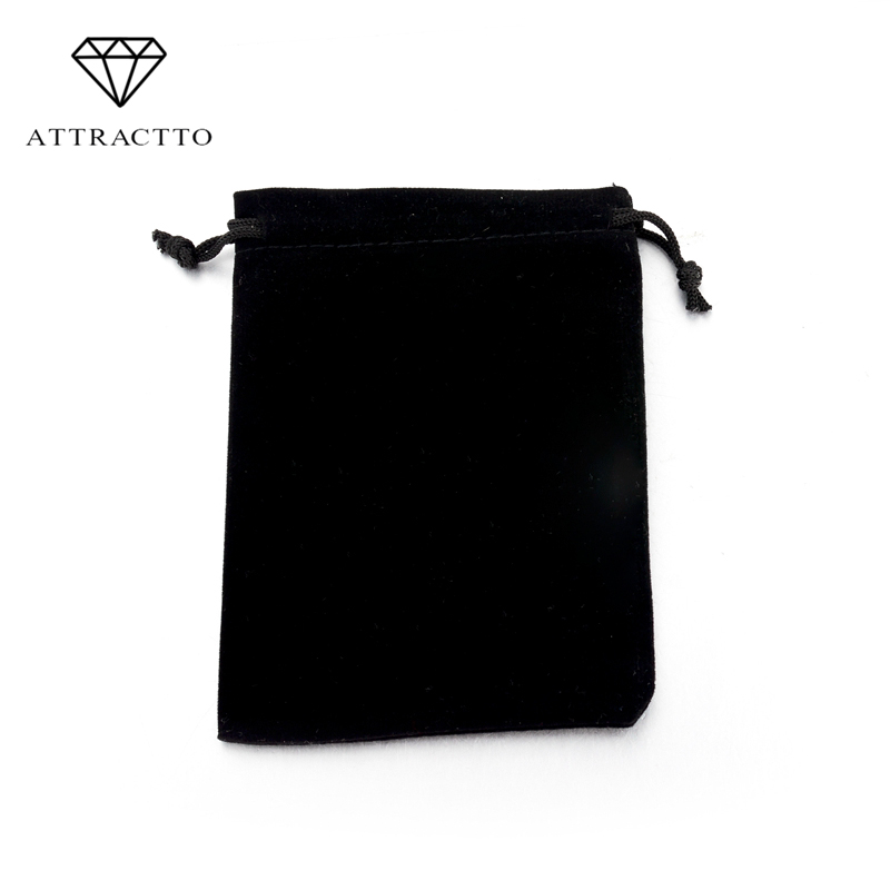 ATTRACTTO Blue/Black/Pink Pounches Packing Box For Necklace Bracelet Earrings Jewelry Packaging SBG160001