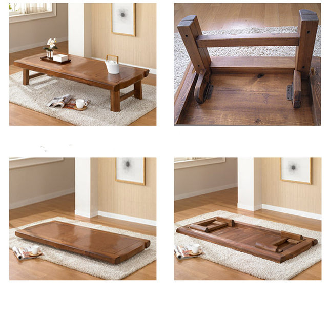 Asian Furniture Antique Wood Folding Table 150 60cm Living Room Anese Foldable Coffee Wooden Low Center