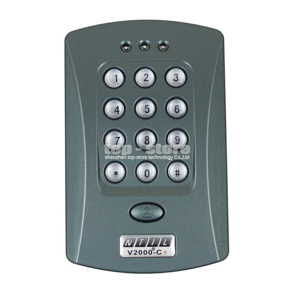 DIYSECUR 125KHz Door RFID Keypad Proximity Reader Access Controller System + 10 Free Key Fobs Brand NEW rfid standalone access control keypad 125khz card reader door lock with 10 proximity key fobs for door security system k2000