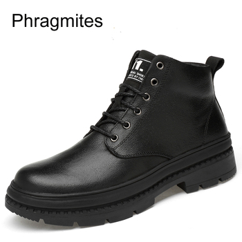 Phragmites Botines Mujer 2019 Chukka Ankle Boot Genuine Leather Shoes For Winter Boots Shoes Breathable Botas Tacticos Zapatos
