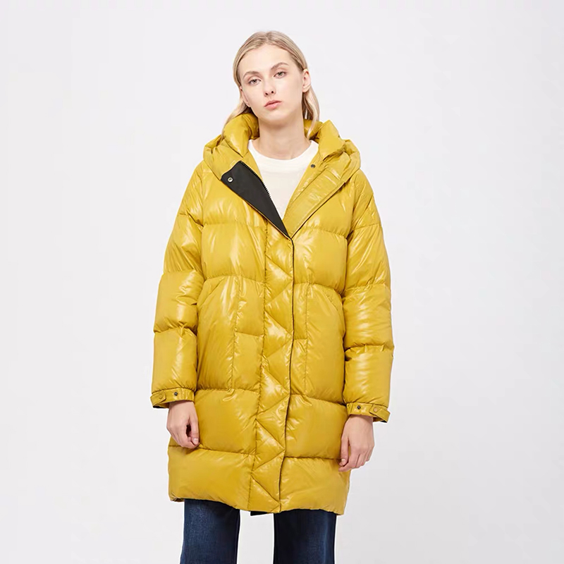 Puffer jacket female   down     coat   in winter abrigos mujer invierno 2019 doudoune femme hiver loose hooded thick long Korean   coat   w