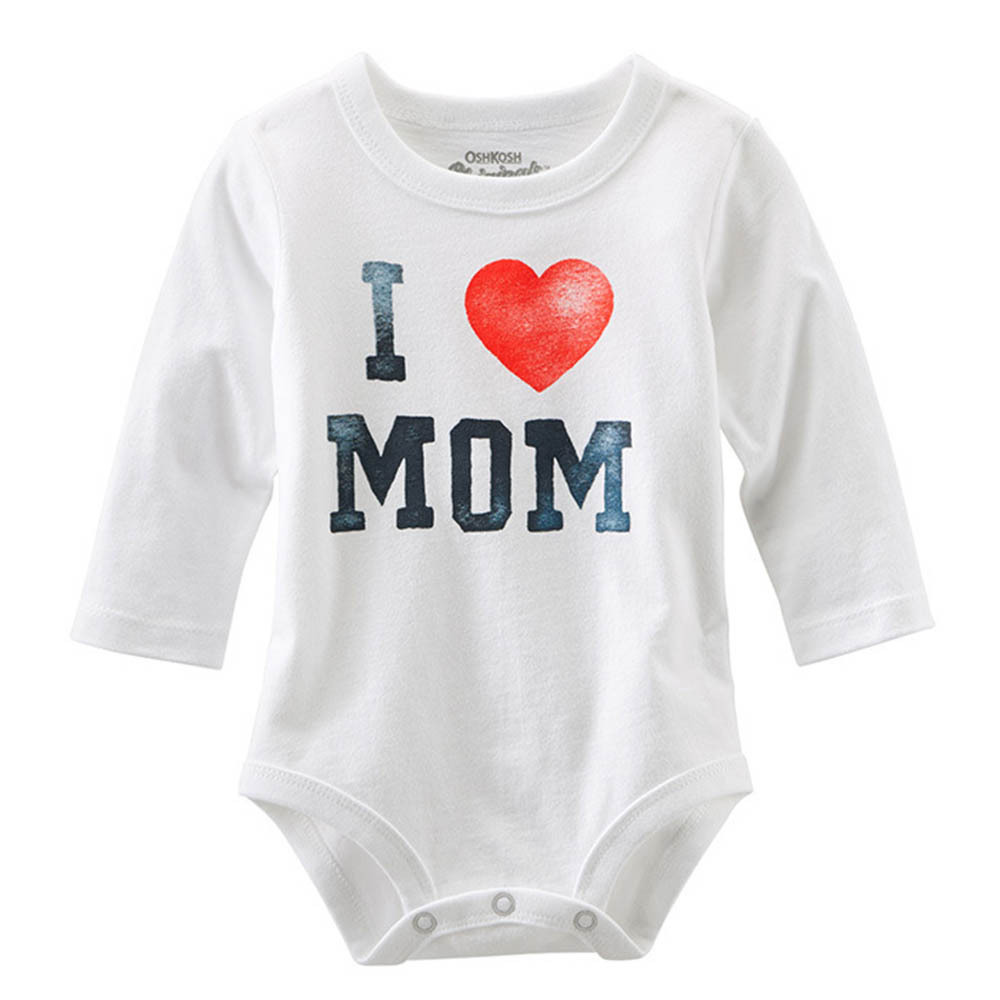 I Love MOM/DAD Print Infant Toddler Baby Girl Boy Romper ...