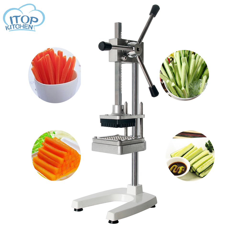 Manual Fries Machine Potato Cutting Vertical Multi-blade Cutter Vegetable Chipper Commercial Kitchen Tools Accessories