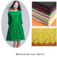 150cm 150cm Embroidery Eyelash Cotton Lace Fabric African Cord Lace Trim Cloth Guipure Lace For Party