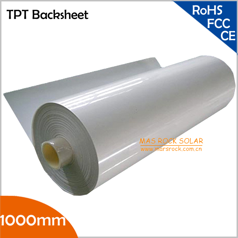 folha traseira solar de 10 metro lote 1000mm folha traseira do pv backsheet solar do tpt