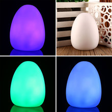 LED Color Changing Mood Egg Shaped Home Decor Lamp Baby Kid Night Light