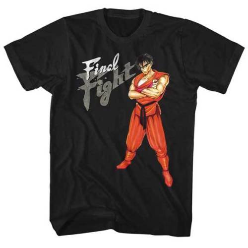 Final Fight Guy Waiting For A Fight Capcom Video Game Adult T Shirt T Shirt Fashion top tee
