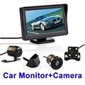 4.3 Polegadas Auto Sistema de Estacionamento exibição HD Monitor Espelho Retrovisor Do Carro com 170 Graus câmera de visão traseira Do Carro À Prova D' Água