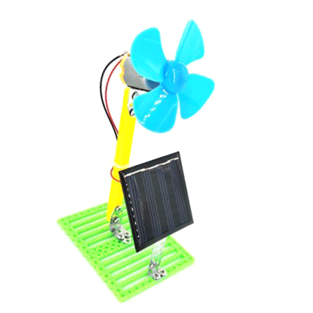 Solar Powered Electric Fans DIY  4