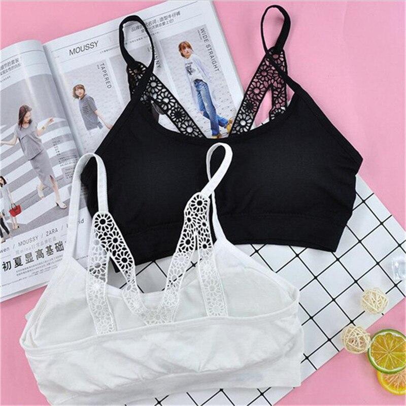 1719ef4d2 Las niñas de algodón de la ropa interior de sujetadores de entrenamiento para  Niñas Ropa interior Niña de encaje adolescente ropa interior