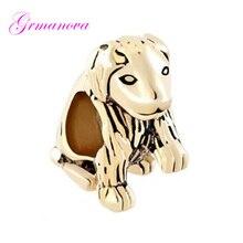 950252e27 Cute Golden Retriever Animal Charm Beads DIY Handmade Ornamental Amulet Fit Pandora  Bracelet Necklace(China
