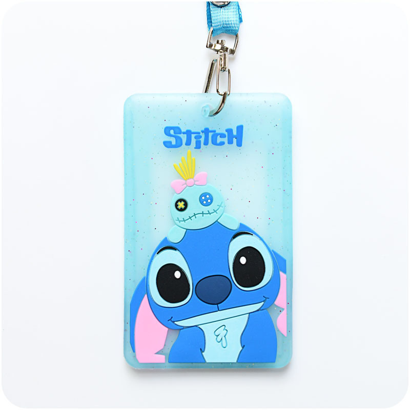 Cartoon Name Credit Card Holders Women Girl Silica Gel Card Neck Strap Wallet Wallet Card Bus ID Badge With Lanyard Card Cover