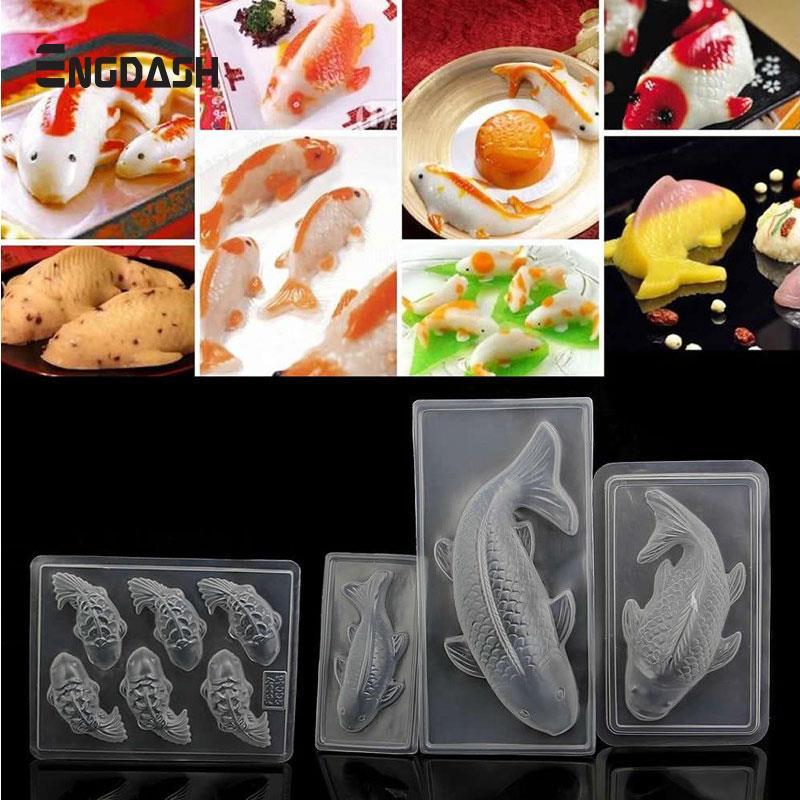 Dynamic Engdash 1pc 3d Koi Fish Shape Plastic Cake Chocolate Jelly Sugarcraft Mould Rice Mold Diy Cake Decorating Moulds Baking Tool Kitchen,dining & Bar