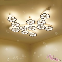 Creative LED flower ceiling light living room Nordic atmosphere bedroom lamp room balcony corridor ceiling lamps ZA1128010
