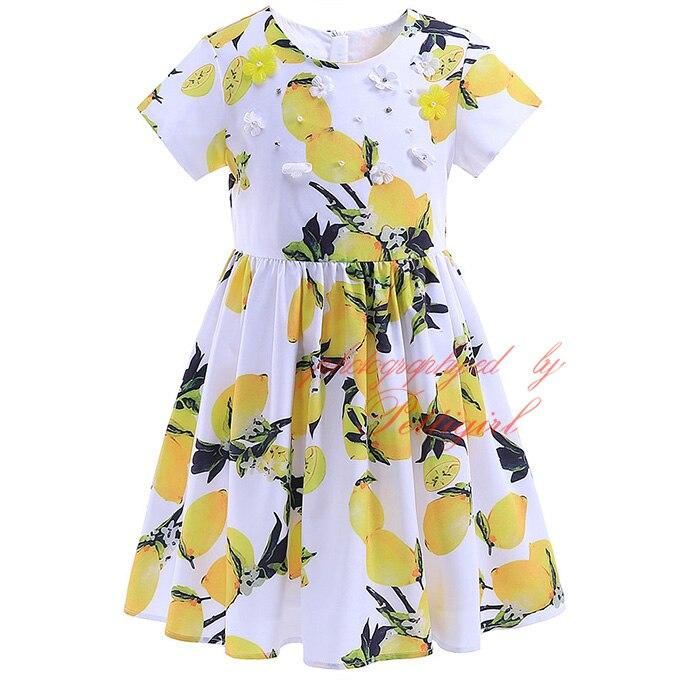 Pettigirl hot lemon print girl yellow dress fashion floral nail pettigirl hot lemon print girl yellow dress fashion floral nail drill girls a line dress child clothes gd90425 761f in dresses from mother kids on mightylinksfo