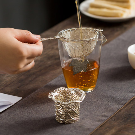 Copper Gong Fu Tea Strainer Set 2