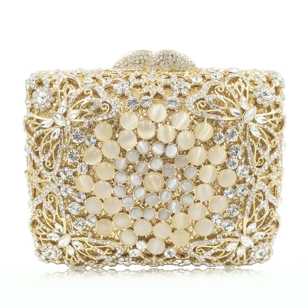 gold crystal diamond clutch small purse for wedding/cocktail/party/banquet gift bag for Girlfriend dress evening bags handbag gold woman evening bag women diamond rhinestone clutch crystal chain shoulder small purse gold wedding purse party evening bags