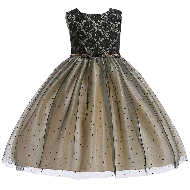 Retail 2019 New Summer Kids   Girl   Black Lace   Flower     Girl     Dress   Children   Girl   Sequins Party   Dresses   Suit For 3-8 Years L5002