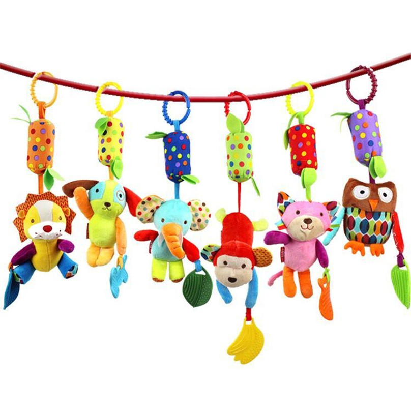 new 15cm plush Cartoon animal lion dog doll Wind bell baby toy Hung on me pendant Children's gift