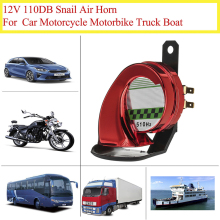цена на 12V Car Motorcycle Truck Boat 110dB Loud Snail Air Horn Siren Loud Waterproof