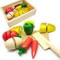 Envío libre Pequeña caja de juguetes de madera para niños rompecabezas madre de fruta de madera de juguete Juguetes Educativos