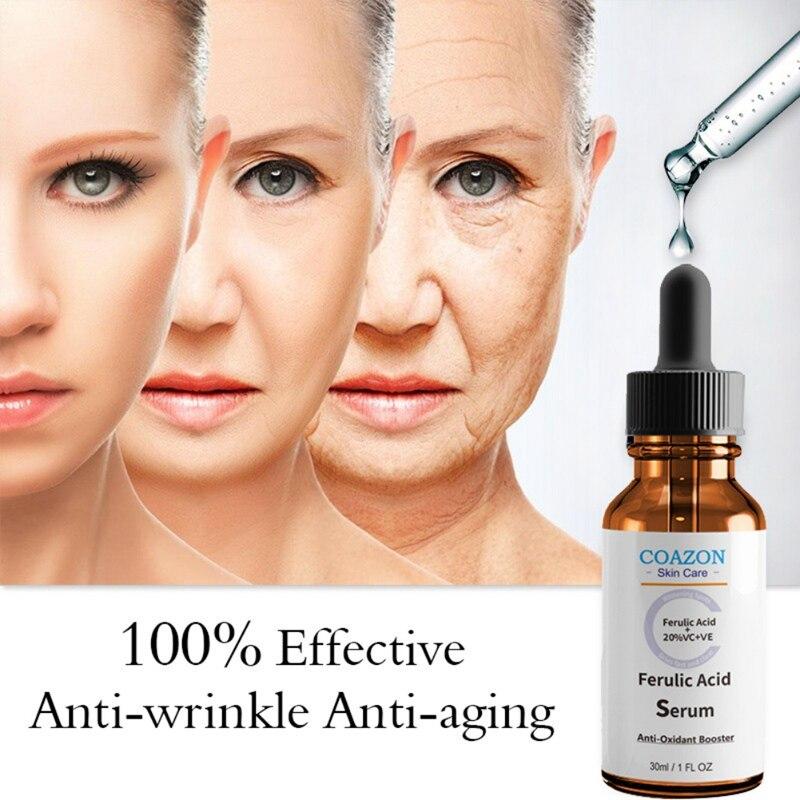 COAZON Ferulic Acid Serum Moisturizing Exfoliation Repair Wrinkles Firming Skin Anti-Aging Anti-Oxidant Essence Skin Care
