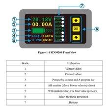 Цифровой мультиметр тестер заряда-разряда батареи DC 0-90 в 0-20A Вольт Ампер метр# Aug.26
