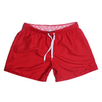 Red-Men Beach Sport Swim Trunks Surf Swimwear Quick Drying Briefs