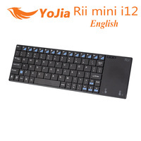 [Genuine] mini-i12 Rii 2.4G Mini Wireless Inglês Versão Fly Air Teclado e mouse Touchpad Para PC HTPC IPTV Smart TV Android caixa