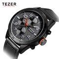 Новый TEZER мужские Часы Мужчины Военная Мода Часы Лучший Бренд Класса Люкс Кварцевые часы Час Часы Наручные Часы Relogio Masculino