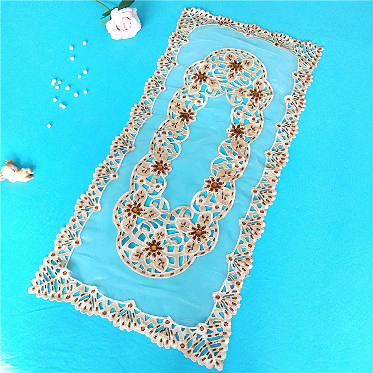 Image 5 - 40x85cm Transparent Mesh Hand studded Cloth Stitching Tablecloth Dressing Table Shoe Cabinet Coffee Sideboard Cover Towel Tapete-in Tablecloths from Home & Garden