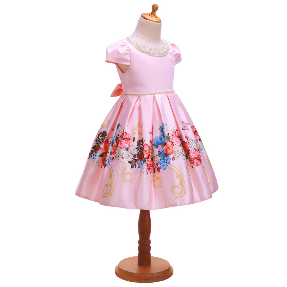 Image 3 - Pettigirl 2020 New Flower Girl Dress With Beading Collar Pink 
