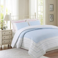 CHAUSUB Quality Quilt Set 3PC/2PC/1PC Cotton Quilts Quilted Bedspread for Bed Covers Sheet Blue Pink Coverlet Queen Size Blanket|cotton quilt|cotton quilts set|cotton quilted bedspreads -