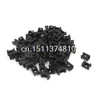 4 5mm Width Tie Cable 3mm Mounting Screw Saddle Base Holder Black 90 Pcs