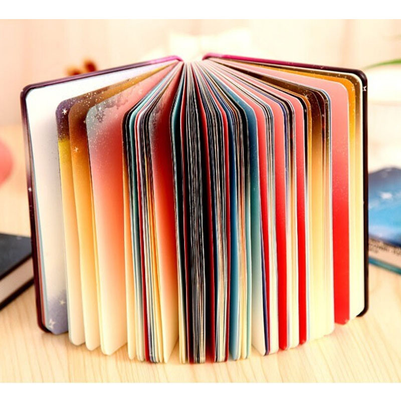 Creative Notepad Hardcopy Hard Cover Book Notebook Star Metal diary Gift Stationery diary Colorful Page Travelers my beauty diary 10 page 3