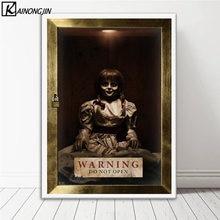 Poster Annabelle korku filmi posterler ve baskılar tuval boyama duvar sanat resmi oturma odası ev dekor için