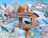 Diamond Embroidery Birds Family Diamond Painting Animal Home Decor Square Diamonds 3D Diamond Needlework Wall Arts