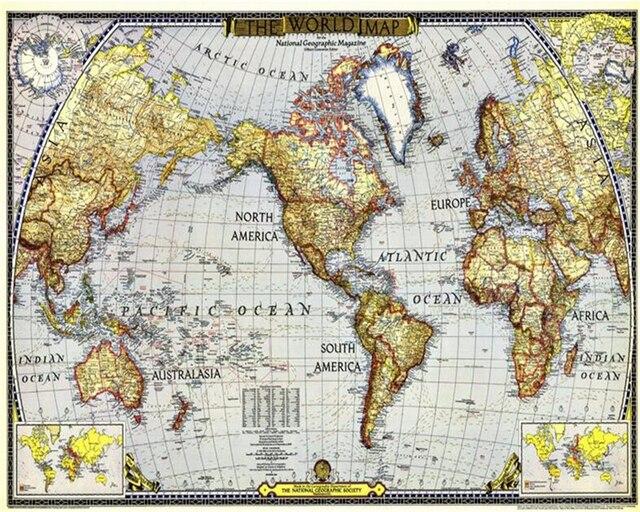 Beibehang Custom Tapete Europäischen Retro Segeln Karte Welt Karte