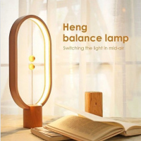 Dropship LED Smart Balance Lamp Magnetic Suspension Creative Night Light Home Decor Bedroom Office Reading Light Christmas Gift