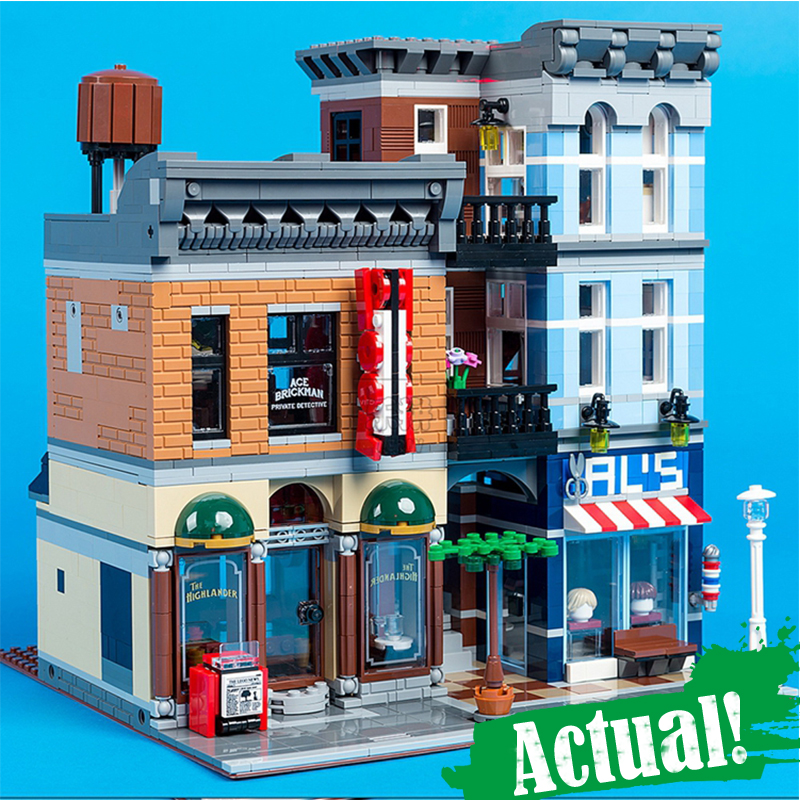 цена на IN STOCK 15011 2262Pcs City Street Detective's Office Model Building Kit Blocks Bricks lepin Toy Compatible 10246 Gifts