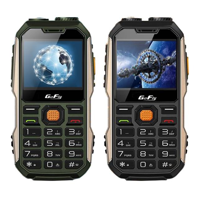 GOFLY 8800F Dual sim card dual flashlight radio loud speaker recorder bluetooth power bank tachograph MP3 MP4 mobile phone P047