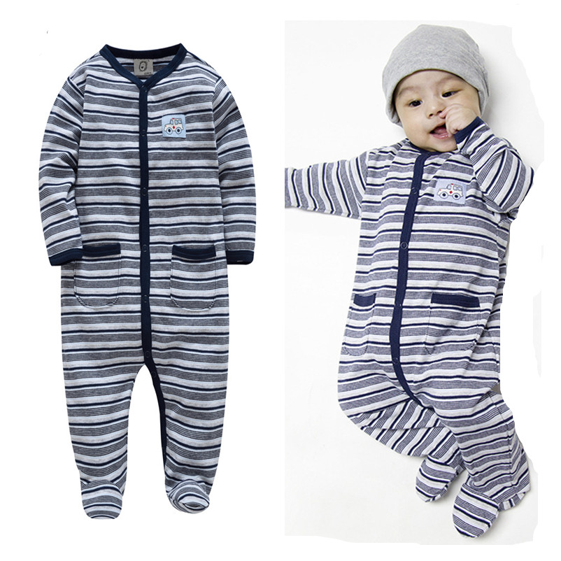Nice Kavkas Baby Clothes Set Striped Boy Winter Rompers Brand Long Sleeve 100% Cotton Jumpsuit Newborn Costume Body For Baby Overall