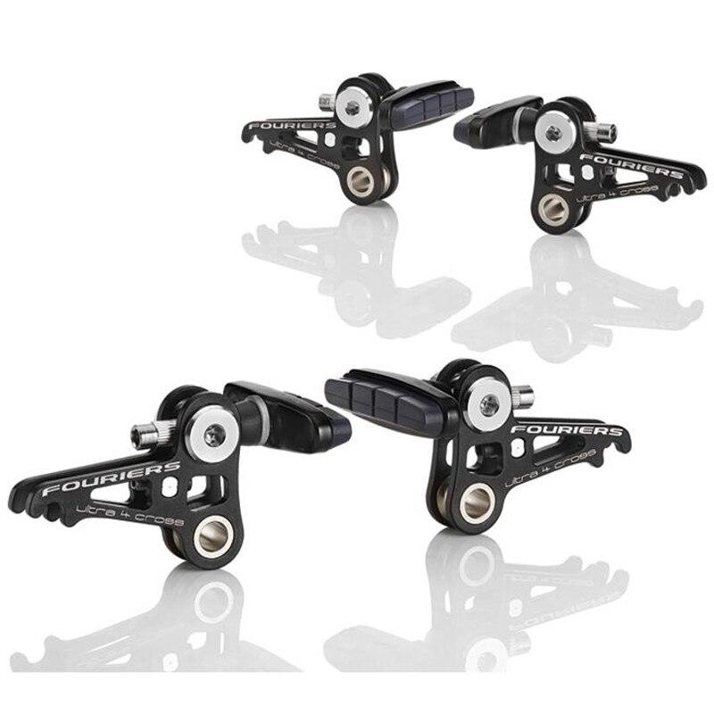 FOURIERS BR-S001/2 CNC chaussures de frein de vélo légères de forme Unique pour la conception de Double plaque système de frein canti pour la route