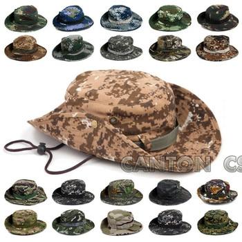 Táctico Airsoft camuflaje Boonie sombreros ejército cadete militar Cap  verano al aire libre Camping senderismo hombre ronda pesca Huing sombrero 2f733a63d0b