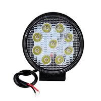 1pcs 4 Inch 27W LED Work Light Floodlight 12V 24V Round LED Offroad Light Lamp Worklight