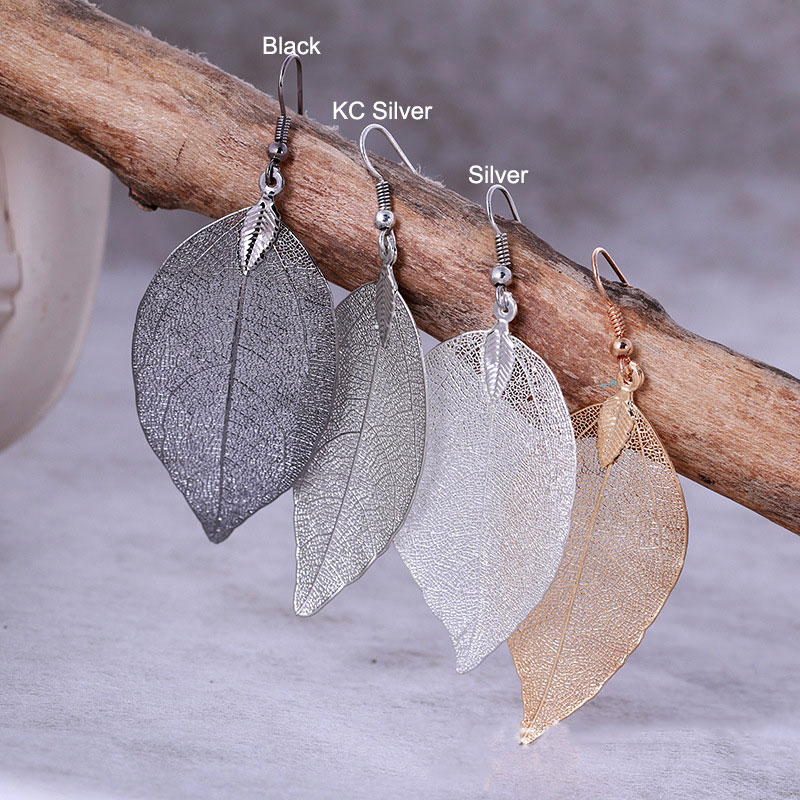 2017-Fashion-Bohemian-Long-Earrings-Unique-Natural-Real-Leaf-Big-Earrings-For-Women-Fine-Jewelry-Gift