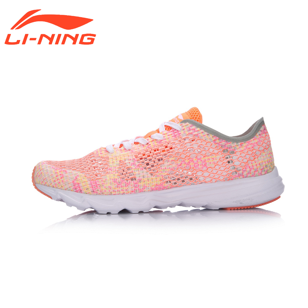 Li-Ning Brand Women Running Shoes Light Weight Textile&TPU Sports Shoes Breathable 2017 Summer Female Sneakers LiNing ARBM018 original li ning men professional basketball shoes