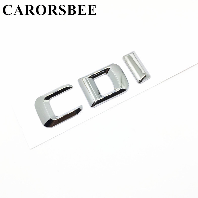 CARORSBEE High quality ABS Plastic CDI Logo Letter Emblem Badge Car sticker Auto Rear Trunk Decals For W203 W204 W205 W211 W176 car rear trunk security shield cargo cover for ssangyong rexton ii w 2008 2017 high qualit black beige auto accessories
