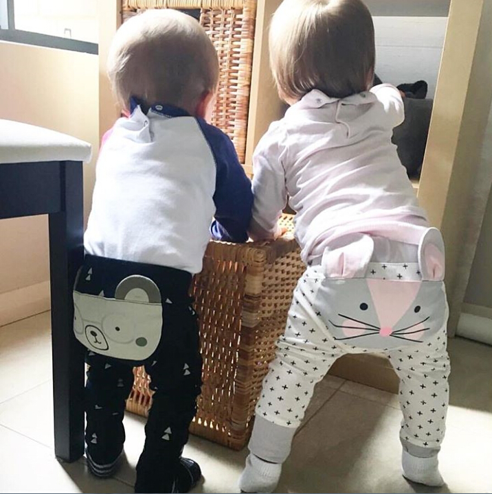 Baby Pants Cute Animals High Waist Pants Trousers Lovely Baby Kids Girls Boys Pants Casual