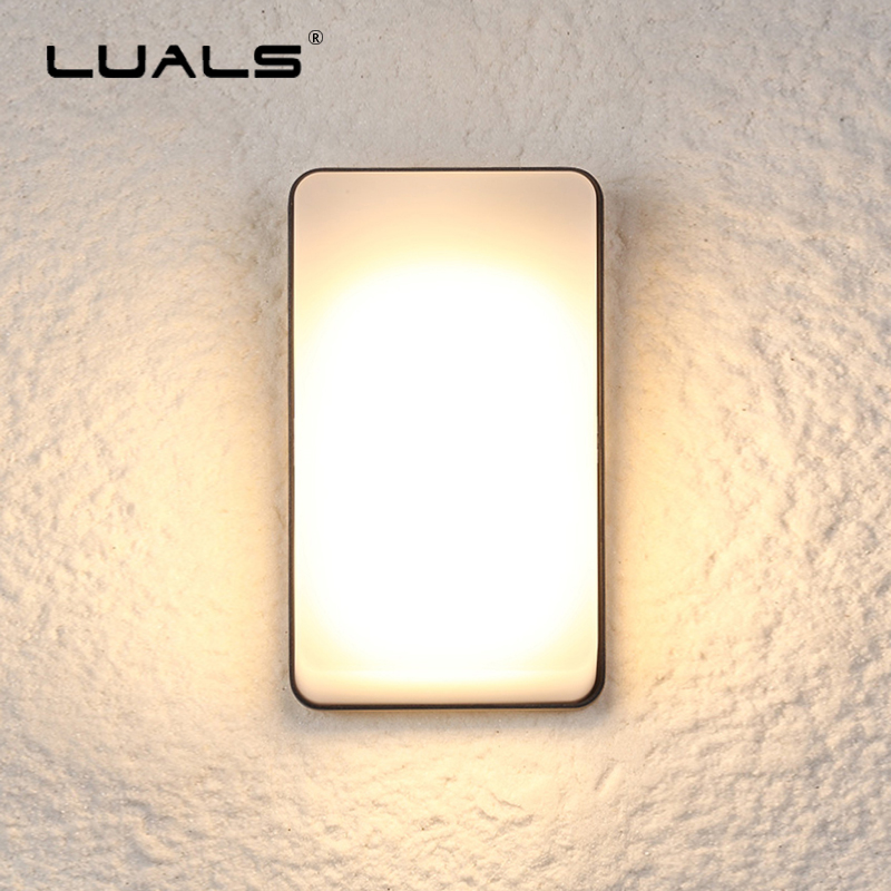 Waterproof Outdoor LED Wall Lamp Simple PC Lampshade Art Wall Lamps Luxury Villa Patio Modern Wall Light Aluminum Wall Lights